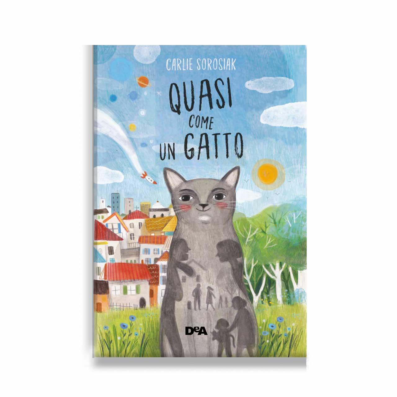 Illustrazione realizzata per la cover del libro Quasi come un gatto, Carlie Sorosiak, DeAplaneta